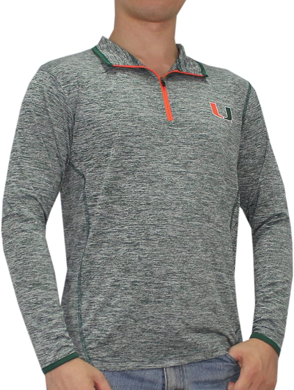 Miami Hurricanes NCAA Mens Athletic 1 4 Zip Thermal Shirt S