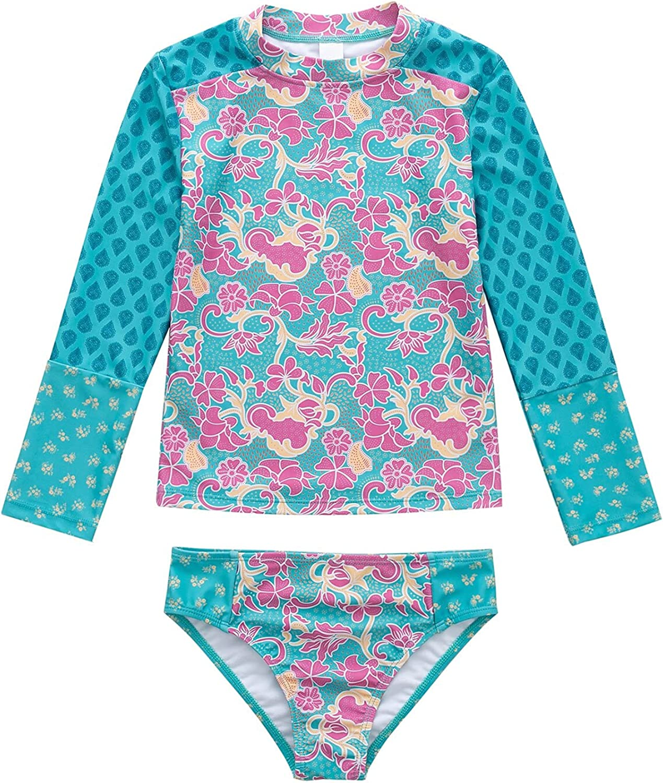 Finally resale All items free shipping start BIKINX Girls Rash Guard 3t 2 Flor Long Swimsuit Sleeve Set Piece