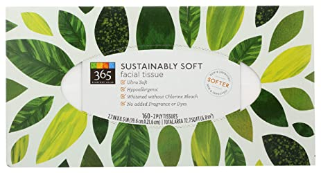 365 Everyday Value, Sustainably Soft Facial Tissue, 160 ct