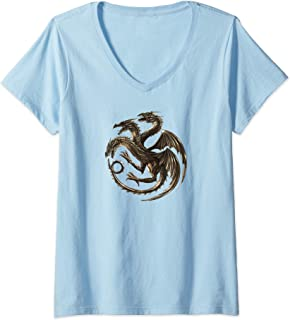 Cool Chinese Dragon V-Neck T-Shirt