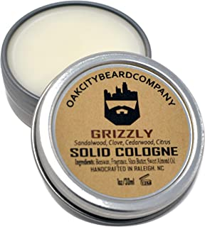 OakCityBeardCo. - Grizzly - Men's Solid Cologne - 1oz