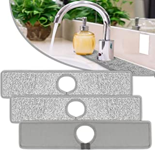 3 Pack Kitchen Faucet Absorbent Mat, 18.5 x 4 Inch Faucet Drip Catcher Sink Splash Guard Washable Dish Water Drying Pads f...