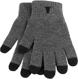 100% Wool Touchscreen Gloves in Charcoal Gray by TORRO