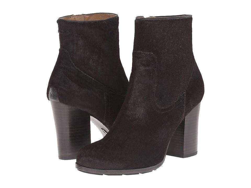 Frye Parker Short (Black Hair Calf/Tumbled Full Grain) Cowboy Boots