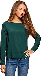 oodji Ultra Basic viscose blouse voor dames