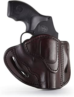 1791 GUNLEATHER J-Frame Revolver Holster - OWB CCW Holster - Right Handed Leather Gun Holster for Belts - Fits All J-Frame Revolvers Including S&W and Ruger LCR not Taurus (RVH-1)