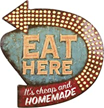 Creative Tin Eat Here Retro Wall Decor