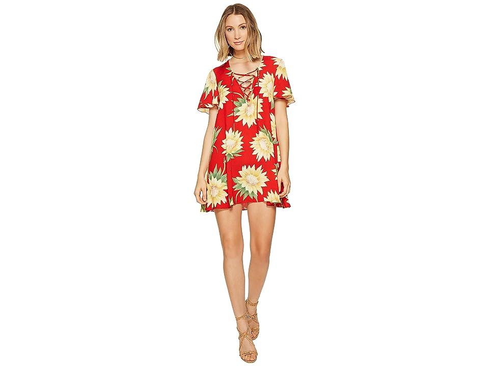 Show Me Your Mumu Kylie Lace-Up Dress (Sunflower Fields) Women