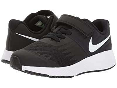 Nike Kids Star Runner (Little Kid) (Black/White/Volt/Anthracite) Boys Shoes
