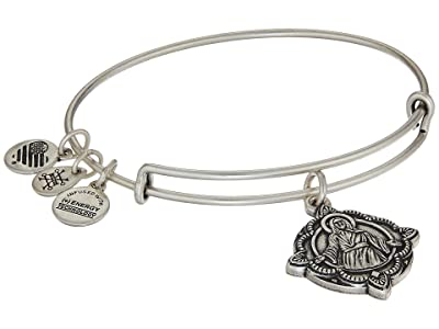 Alex and Ani Jesus Bangle (Rafaelian Silver) Bracelet