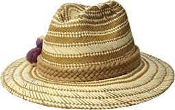 San Diego Hat Company - PBF7320OS Fedora w/ Paper Pattern and Triple Poms