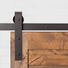 Classic Barn Door Hardware Kit 6FT 6 Inches Oil Rubbed Bronze  USA Made  Nylon Wheels   Pre Drilled Track 6ft 6in  Ready to Ship 