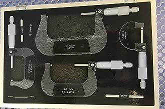 3pc Micromètre Externe Réglable Métrique Micromètre carbure ENCLUMES 0-75 mm