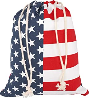 Cornhole Tote Bag Durable Bag for Corn Hole Bags Portable Easy Storage Cornhole Bean Bags for Tossing Game Outdoor Fun Stars and Stripes