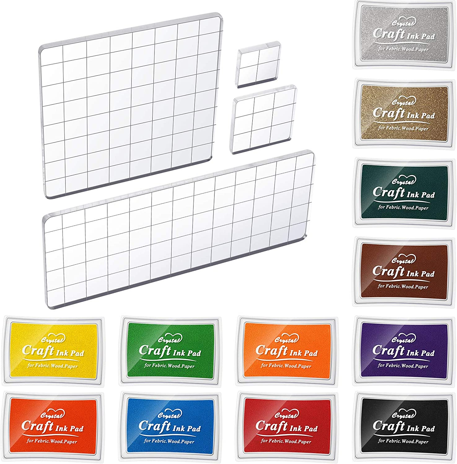 12 Pieces Craft Ink Pads Same Ranking TOP1 day shipping Was Finger Color Vibrant Stamp