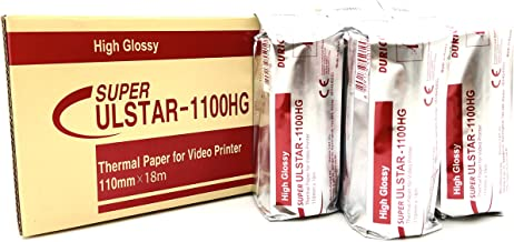 Durico Thermal Paper for Video Printer ULSTAR-1100HG (5 rolls per box) Sony UPP 110HG equivalent for UPX898 and UPD898