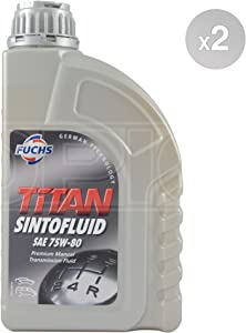 Fuchs TITAN SINTOFLUID SAE 75W-80 synthetic manual transmission fluid Litres