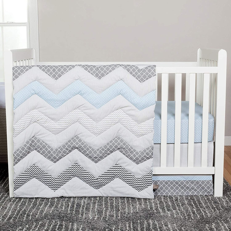 Blue At the price Taffy Geometric Chevron Zig Zag P Baby Sets Albuquerque Mall 3 Crib Bedding