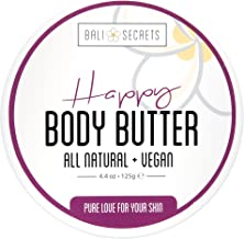 Happy Body Butter - All Natural & Vegan - Reduce Stretch Marks & Cellulite - Nourish & Protect - Pure Love For Your Skin