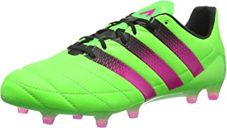 Ace 16.1 Firm Ground / AG Leather Mens Football Boots - Green-6