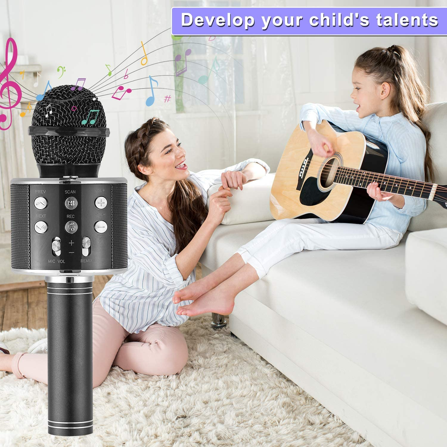 Wireless Bluetooth Mic for Android/iPhone/iPad Hot Toy Gifts for ...