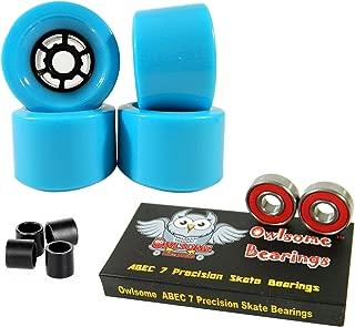 Owlsome 97mm Wheels Longboard Flywheels ABEC 7 Precision Bearings
