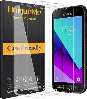 UniqueMe [3 pièces] Protection écran compatible avec Samsung Galaxy Xcover 4S, [9H Dureté][sans Bulles] Ultra Résistant Fi...
