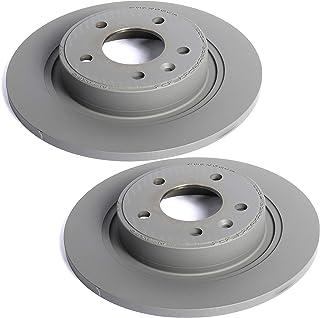 2014 For Buick Verano Rear Disc Brake Rotors and Ceramic Brake Pads Note: w//292mm Dia Rotor