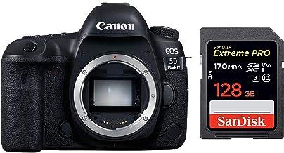 Canon EOS 5D Mark IV 30.4MP Digital SLR Camera (Black) with Body Only + SanDisk 128GB Extreme Pro SDXC UHS-I Card - C10, U...