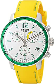 Men's T0954491703701 Quickster Analog Display Swiss Quartz Yellow Watch