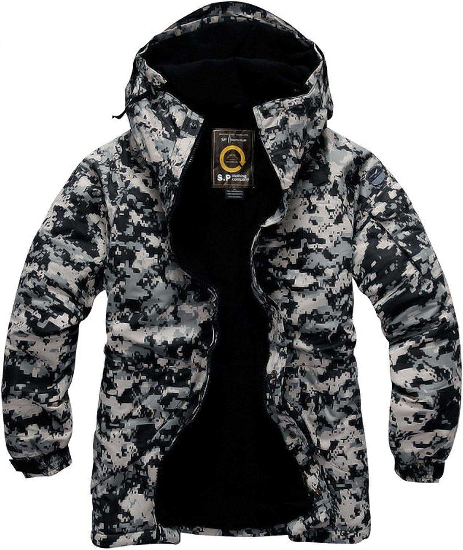 South play Mens Camouflage Waterproof Ski-snowboard U.S Black Military Jacket