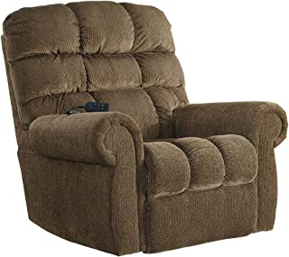 Ashley Furniture Signature Design - Ernestine Power Lift Recliner, Truffle