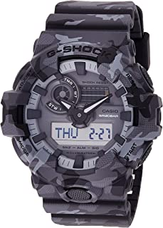 Casio Men's Quartz Watch, Analog-Digital Display and Resin Strap Ga-700Cm-8Adr, Multicolour Band