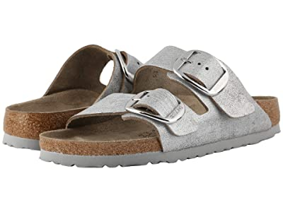 Birkenstock Arizona Big Buckle (Washed Metallic Blue) Women