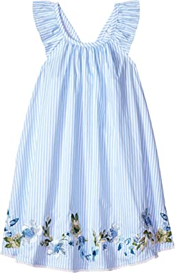 Mud Pie Embroidered Ruffle Sun Dress (Infant/Toddler)