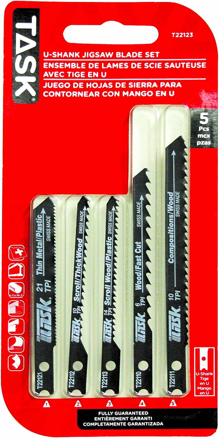 Task Tools T22123 Max 55% New products, world's highest quality popular! OFF 5-Piece Jigsaw Includes Set Blade Blades
