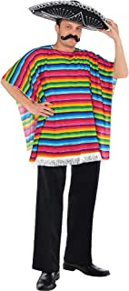 Fiesta Cinco De Mayo Striped Multicolored Fabric Serape | Party Costume