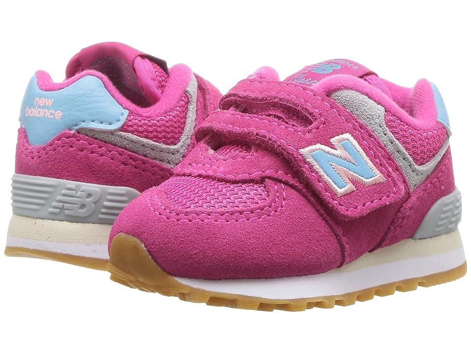 New Balance Kids IV574v1 (Infant/Toddler) (Conch Shell/Blue) Girls Shoes