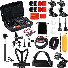 Luxebell Outdoor Sports Camera Accessories Kit for Gopro Hero 7 6 5 Session 4 3 2 Sjcam DBPOWER AKASO Apeman Xiaomi Yi