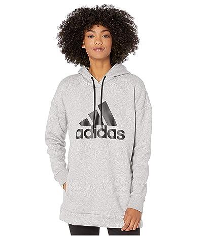 adidas Must Have Badge of Sport Hoodie (Medium Grey Heather) Women