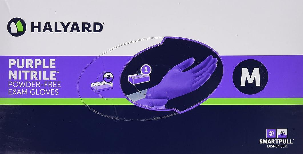 起業家ボンドナラーバーHalyard Health Kimberly Clark Nitrile Glove, Purple, Medium, 100 Count by Halyard Health