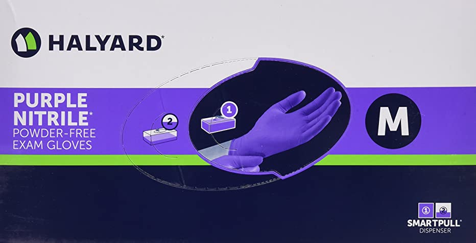 凶暴な殉教者繁雑Halyard Health Kimberly Clark Nitrile Glove, Purple, Medium, 100 Count by Halyard Health