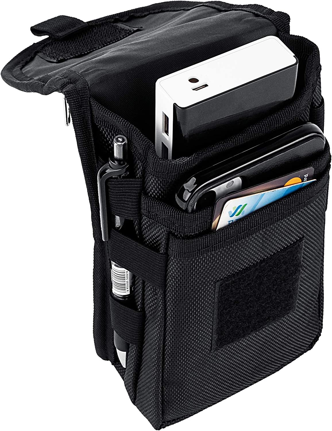 IronSeals Large Cell Phone Holster, Multi-Purpose Tool Pouch, Belt Loop Waist Pocket with D-Ring for Hiking, Camping, Rescue Essential