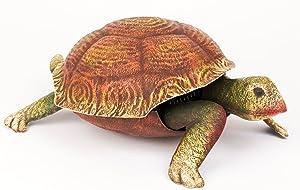 Nuevo al aire libre rural Metal tortuga tortuga Escultura Estatua animal figura decorativa grande 41cm