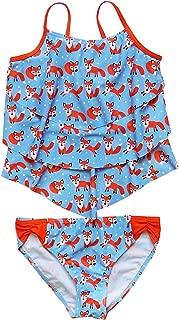 So Sydney Swim Girls' Two Piece Tiered Tankini Swimsuit Bathing Suit