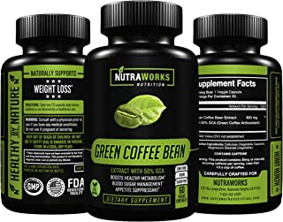 Green Coffee Bean Extract with 50% GCA 800mg - 100% Pure with Antioxidants - 100% All Natural Weight Loss Supplement, Main...