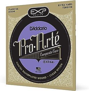 D'Addario EXP44 - Juego de Cuerdas para Guitarra Acústica y Guitarra Clásica.029 - .047 (Tensión Alta), Transparente