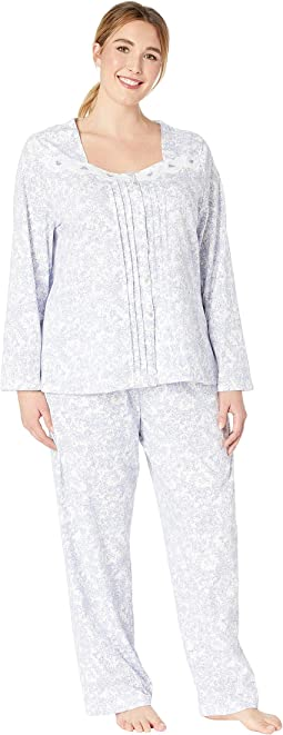 Plus Size Soft Jersey Long Pajama Set