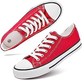 Women's Canvas Shoes Low Cut Canvas Sneaker Casual Walking Shoes