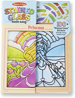 Melissa & Doug Stained Glass Made Easy Activity Kit, Princess (Arts and Crafts, Develops Problem Solving Skills, 100+ Stickers, Great Gift for Girls and Boys - Best for 5, 6, 7 Year Olds and Up)